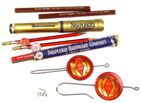 2-bill Hooks; W/celluloid Diamond Edge Quality Pledge & Pencils W/diamond Edge Clips