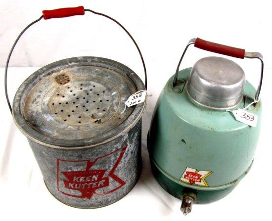 Lot: Minnow Bucket & Water Jug; Big K; Shapleigh's Keen Kutter