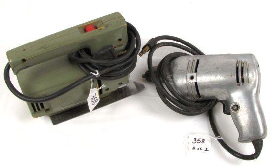 "Electric Sabre Saw & ¼"" Drill (kk 243 B); Both Big K Keen Kutter"