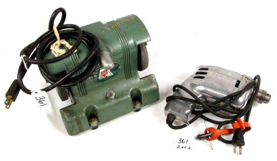 """Electric 4 ½"""" Bench Grinder; Kk50 & Electric ¼"""" Drill; Kk200; Both Shapleigh's Keen Kutter"""