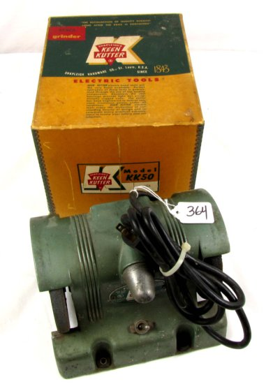 "Electric 4 ½"" Bench Grinder; Kk50; W/like New Box; Shapleigh's Keen Kutter"