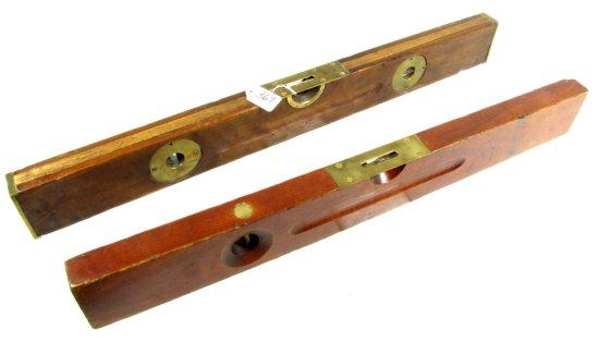 "28"" Wood Level W/brass Ends; Ovb & No. 0; 26"" Wood Level; Ovb"