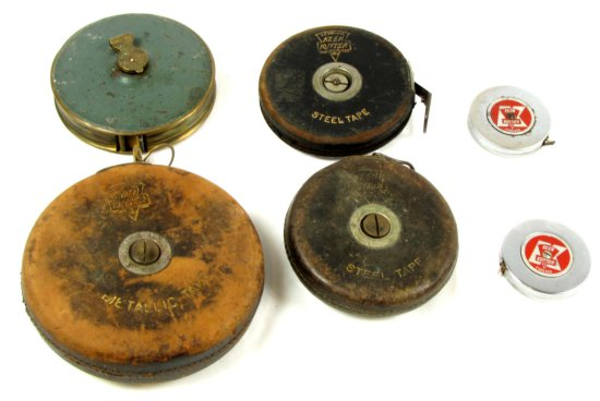 Lot: Tape Measures; 3-50 Ft. Ecs Keen Kutter; Metal In Leather Covered Case; 1-50 Ft. Blue Diamond;