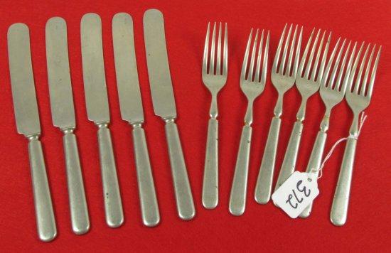 6 Forks & 5 Knives; Hsb
