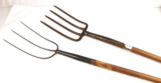 3 Tine Hay Fork; K304 ½ Branded Hndl.; Shapleigh Keen Kutter & Spading Fork; Ecs Kk Logo(not Shippab