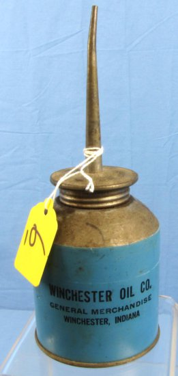 Oil Can; Winchester Oil Co. General Merchandise; Winchester Indiana; Blue