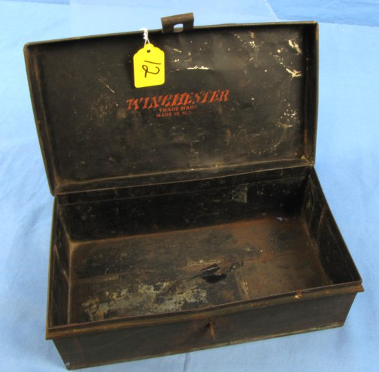 Fishing Tackle Box; Small; No Trays; Worn Finish; Winchester