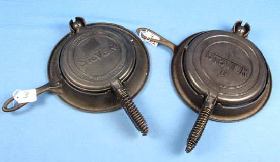 2 Waffle Irons; Stover #7 & #8