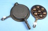 2 Items: #33 Munk Pan; Pn 2992; Western Importing & Wafer Iron; #8 Alfred Andresen Pn 2424; Kornu K