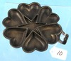Heart & Star Candy Mold; Unmrkd.; 6 1/4in; Cast Iron