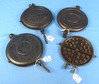 3 Waffle Iron Paddle Pairs (only): Stover #8; Repair To Ball; Wagnerware; #1408; The Wagner No. 8;