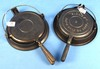 """2 Waffle Irons: """"sidney"""" #8; Raised Letters & Sidney Hollowware Co. #8 (some Pitting)"""