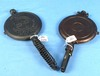 Waffle Iron Paddles (only) 2 Pr: Griswold (slant) American No. 7; Standard Hinge & Griswold The Ame