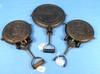 2 Waffle Irons; Hinged Paddles (no Bases); (2) Gf Filley 7/8; Detroit Iron & Brass Mfg. Co.; 9 & 10