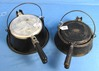 2 Waffle Irons: Supermaid Cookware; Aluminum (both Paddles & Base) & Puritan No. 8; Aluminum; Cast