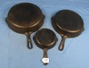 3 Skillets Griswold; Sm. Logo; Erie; Pa; Smooth; #3; #8; #10; Pn 709; 704; 716