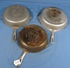 3 Nickeled Skillets; Griswold Epu; Ll; Smooth; #6;7;8 Pn 699; 701; 704