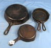 Pie Logo Skillets; Wagnerware; 3-3's 1053 & 1-7 1057