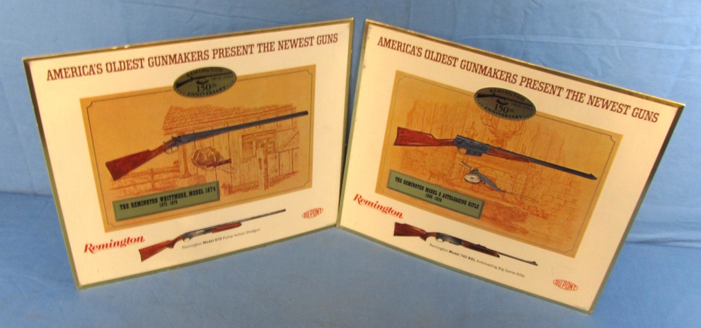 Lot Remington Store Display Kit In Orig Box 5 Cardboard Signs