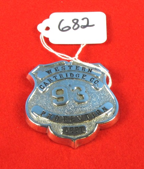 Western Cartidge Co. 93 Protection Dept. Badge
