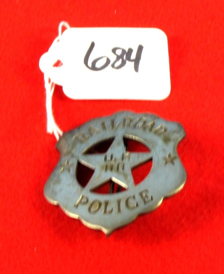 Railroad Up Rr Police Badge