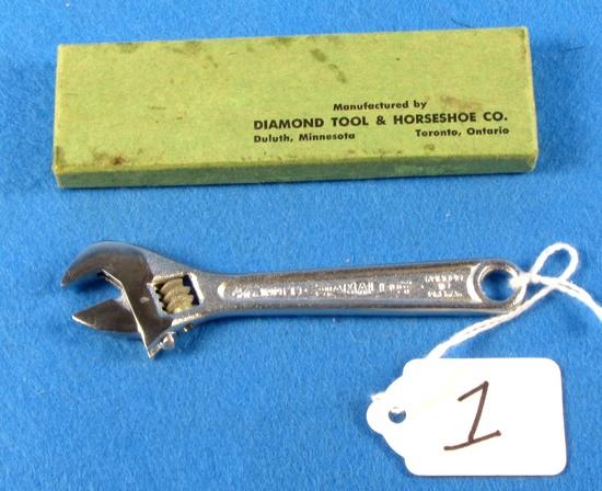 4in Crescent Wrench; Nib; Diamalloy; By Diamond Tool & Horseshoe Co.