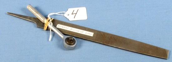 2 Items: File & Small Ratchet; Belknap Blue Grass