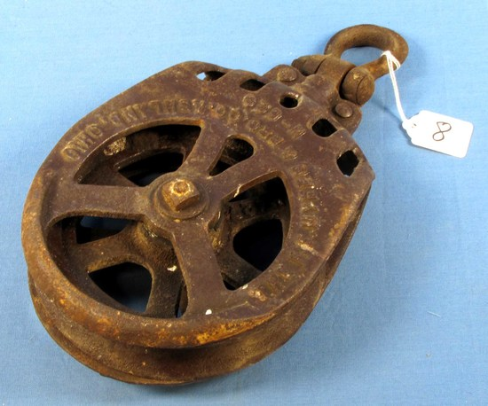 Iron Pulley; 8in Dia.; The Fe Meyers & Bro. Co. Ashland; Oh H-520