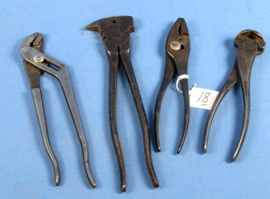 Fence Plier/staple Puller (1945); Carpenter Pincers; K26-7; Comb. Pliers; K51-6; Channel Lock Plier