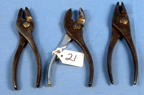 3 Combination Pliers; Keen Kutter