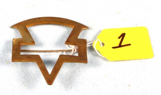 Brass Keen Kutter Logo; Cut-out; Badge