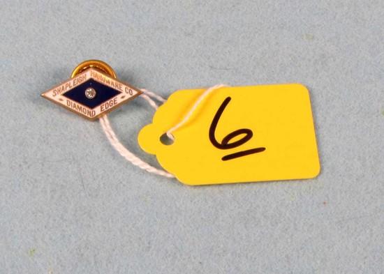 Diamond Edge Enamel Pin W/diamond