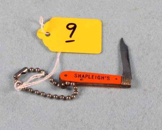 Shapleigh's Key Chain; Tiny Pocket Knife