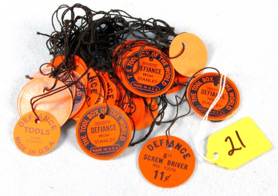Lot: String Tags; Defiance From Stanley