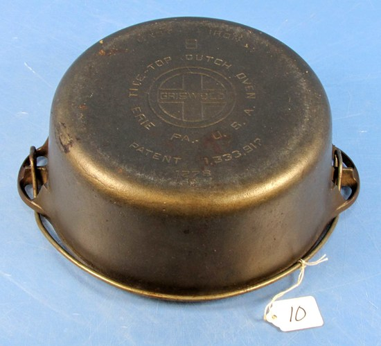 #8 Tite-top Dutch Oven; Griswold; Ll; Block; Epu; P/n 1278 W/patent