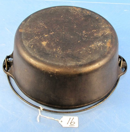 #9 Tite-top Dutch Oven; Griswold; Ll; Block; Epu; P/n 1279 W/patent