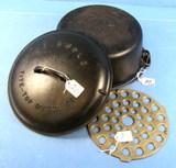 #9 Tite-top Dutch Oven; P/n 834; Griswold; Ll; Block; Epu W/high Dome; Raised Letter Lid; P/n 2552