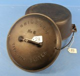 #8 Tite Top Dutch Oven; P/n 833; Griswold Ll; Slant & Low Dome Griswold Tite Top Baster Lid; P/n 25