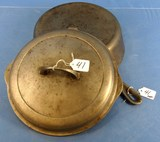 Hinged Skillet; #8; Griswold Erie; Pa; Sl; P/n 2528; Chrome