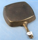 Square Skillet; Griswold; Sl; P/n 57; W/tab