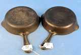 (2) #4 Skillets; Griswold Erie Pa; Sl; Smooth