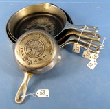 Skillets; Griswold; Epu; Ll; Block; Smooth; Chrome; #3;6;7;8 (2)