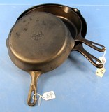 Skillets; Griswold Erie Pa; Sl; Smooth; #7;8;10