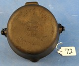 Deep Patty Bowl; P/n 72; Griswold Epu; Small Block Logo