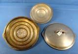 (3) Covers: 2- Skillet Covers; P/n A209c; Griswold Epu Ll; Block; Alum. & 1- Self Basting Cover; P/