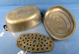 #5 Oval Roaster; Alum. Griswold Epu Ll; Block; A485; Trivet A485t; Cover A485c