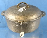 Hammered Dutch Oven; No. 8 Griswold Erie Pa P/n 2365 W/hinged Lid; Griswold A2308c