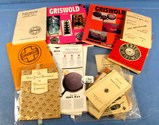 Box Lot: Griswold Recipe Pamplets; Booklets; Inserts; Aunt Mary Ellen's Waterless Cooking Book; Oth
