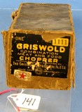 Griswold No. 1111 Combination Meat & Food Chopper; In Orig. Box