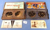 Griswold Patty Mold Set; No. 1 & No. 2 In Orig. Boxes